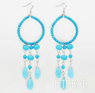 beautiful turquoise drop shape earrings