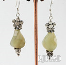 three color jade earrings under $ 40