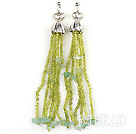 aventurine and tassel earrings