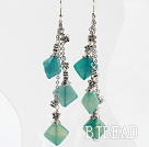 long style blue jasper earrings