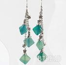 long style blue jasper earrings under $ 40