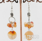 long style agate earrings