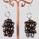 cluster style garnet earrings