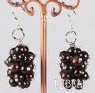 cluster style garnet earrings under $ 40