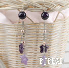 long style pearl and amethyst earrings under $5