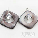 noble rhinestone and shell earrings