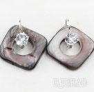 noble rhinestone and shell earrings
