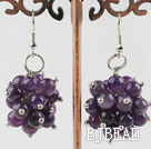 cluster grape style 6mm amethyst earrings