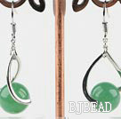 10mm aventurine balll earrings  under $ 40
