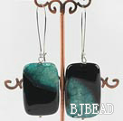 24*40mm chunky rutilated agate earrings