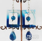 party jewerly chuanky blue agate fashion earrings