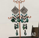 vintage style phoenix and balck agate earrings