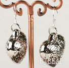 fashion metal jewelry CCB silver like heart shape earrings under $ 40
