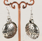 fashion metal jewelry CCB silver like earrings under $1.5