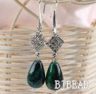 noble drop phoenix stone earrings with rhinestone
