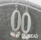 white pearl shell earrings