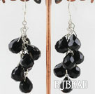 black crystal cluster earrings