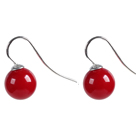 crystal colored glaze ball earrings