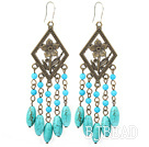 chandelier shape antique jewelry turquoise earrings