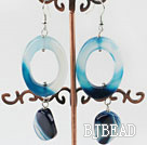 lovely blue agate earrings