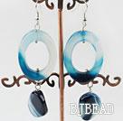 lovely blue agate earrings