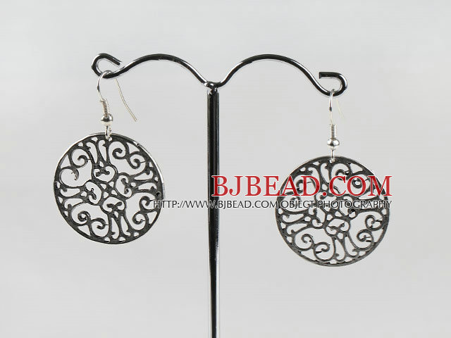 vintage style silver like earrings