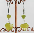 lovely heart South Korea jade fashion earrings