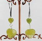 lovely heart South Korea jade fashion earrings