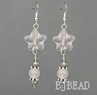 rose quartze earrings