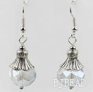 10*14mm faceted clear crystal earrings