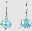 12mm faceted blue crystal earrings under $ 40