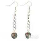 long style blue agate earrings under $ 40