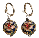 Simple Style Vintage Cloisonne Ball Earrings
