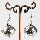 immitation silver top shape CCB fashion earrings