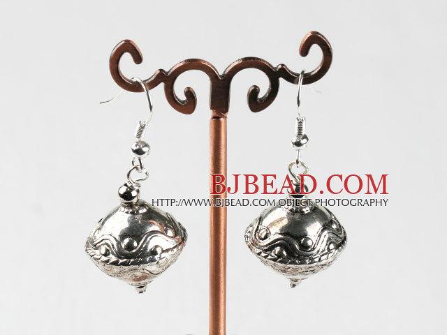immitation silver top shape ccb fashion earrings bjbead