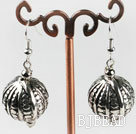 CCB silver like ball earrings with engraved print under $1.5