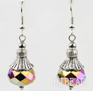 pretty shinning crystal ball earrings
