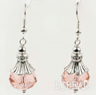 pretty light pink crystal ball earrings