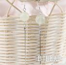 dangling style 12mm jade ball earrings under $ 40
