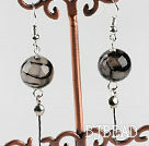 dangling style 12mm faceted serpentine agate ball earrings under $ 40