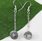 dangling style 14mm alloy earrings