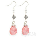 drop cherry quartze earrings