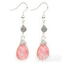drop cherry quartze earrings