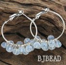 trendy manmade faceted opal crystal hoop earrings under $ 40