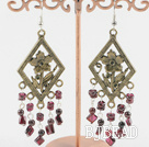 antique natural garnet earrings