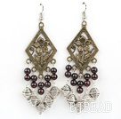 vintage 5mm garnet earrings