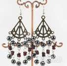 hematite vintage earrings