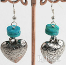 phoenix and tibet silver heart earrings