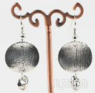Lovely CCB silver like earrings with heart charm