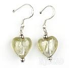 light yellow heart shape colored glaze earrings under $ 40